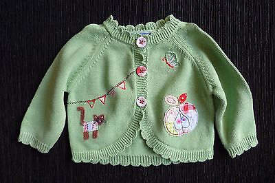 Baby clothes GIRL 6-9m NEXT cat,apple,butterfly green cardigan 2nd item postfree