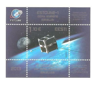 2013   Estonia - Sg Ms 709 - First Estonian Satellite - Umm