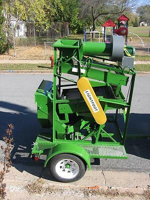 SEED CLEANER/ FANNING MILL GRAIN CLEANER STEEL MOBILE UNIT  amfseedcleaners