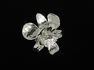 Silver Dipped Orchid Pin (Free Valentine's Day Gift Box)
