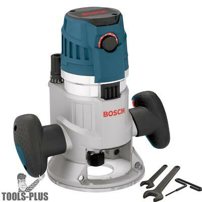 "Bosch Tools MRF23EVS 2.3HP Fixed Base Router 1/2"" & 1/4"" Collets Inc. REFURB"