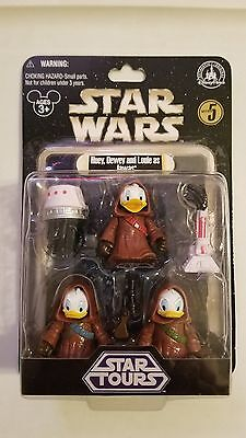 Star Wars Huey Dewey and Louie as Jawas Disney Park Star Tours Exclusive