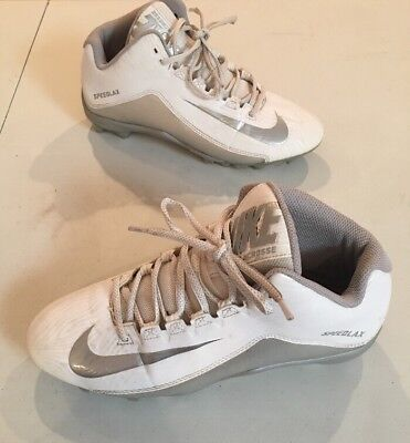 Nike Lacrosse Shoes Speedlax Men's Size 8 White