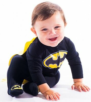 Baby Boys' Batman Costume Coverall with Cape