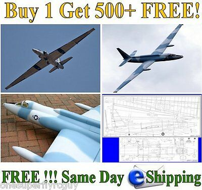 U-2 Spy Plane Giant Scale RC Airplane Full Size Plans & Templates in PDF Format