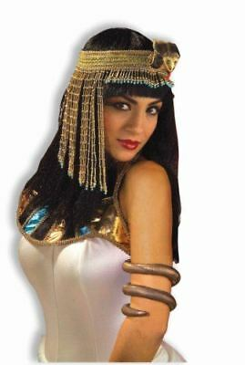 Womenu0027s Egyptian Costume Accessory Asp Snake Beaded Headpiece Teen Adult  sc 1 st  PicClick & CLEOPATRA SNAKE BEADED Headpiece Headband Egyptian Hat Tiara Costume ...
