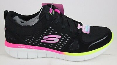 NEW!! WOMEN'S SKECHERS SYNERGY 2.0 RISING STAR 12378 Black