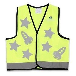 Little Life Safety Children's Reflective Vest Yellow Rocket Design 4 Years +