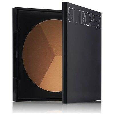 St Tropez 3 In 1 Bronzing Powder Sculpt Bronze Highlight 22g NEW Make Up Compact