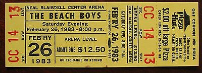 The Beach Boys Unused Concert Ticket for February 26, 1983 in Honolulu