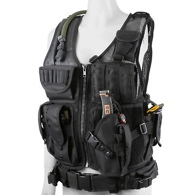 Plate Carrier Vest Tactical Military SWAT Police Airsoft Combat Assault Vest