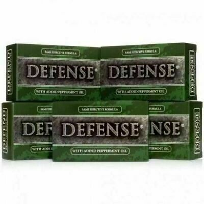 Defense Soap Peppermint Bar, 5 Bar Pack, All Natural