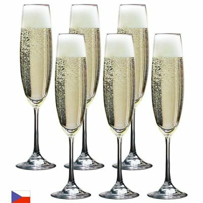 Bohemia by Circle Glass - Soiree Crystalline Champagne Flutes 250ml Set of 6 (Ma