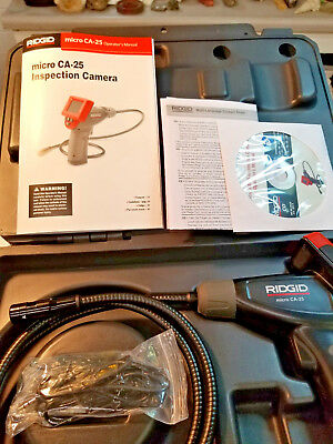 RIDGID Micro CA-25, Cat. No. 40043, Hand Held Inspection Camera, New In Case