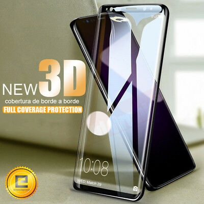For Samsung Galaxy S8 Clear Full Coverage edge Tempered Glass Screen Protector