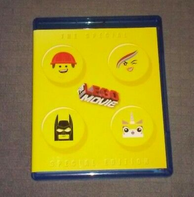 the lego movie special special edition (blu-ray, 2014, 3- disc set, dvd)