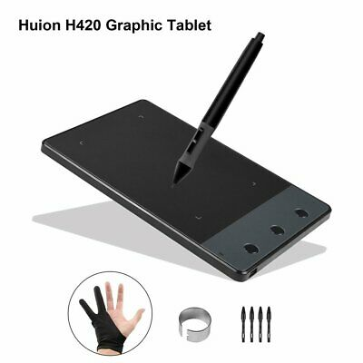 "AU! Signature Pad Graphics Pen Tablet Drawing Digital 4 x 2.2"" Huion 420 Fashion"