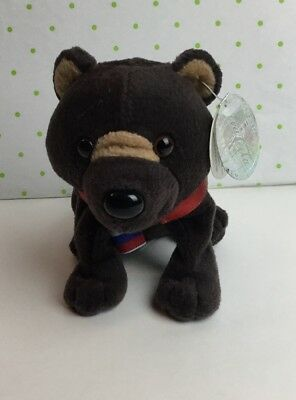 1999 Coca-Cola Russia Barris the Brown Bear Mini Bean Bag Beanie Toy