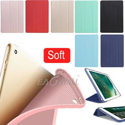 "Slim Leather Smart Cover Silicone Case For iPad 9.7"" Pro 10.5"" 11"" 2018 Mini Air"