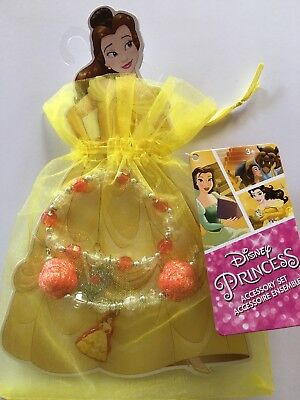 Girl's Princess Belle Jewellery Set & Organza Gift Bag