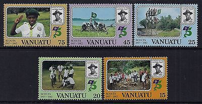 1982 VANUATU 75th ANNIVERSARY OF SCOUTS SET OF 5 FINE MINT MNH/MUH