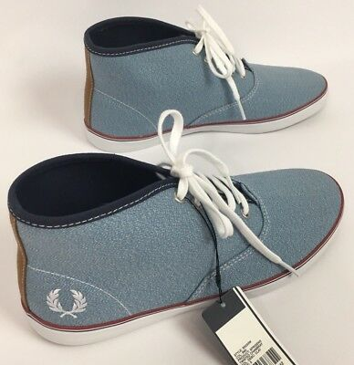 Fred Perry Sprigens Twisted Chambray Clay Trainer Sneakers Women's Sz UK 5 US 7