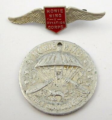 1930s Kelloggs Australian Howie Wing Aviation Club Badge and Token  LAYBY AVAIL