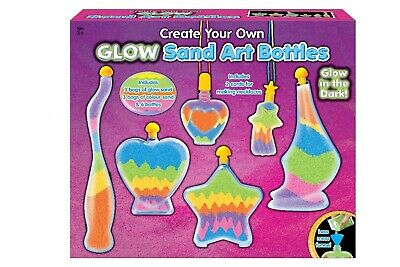 NEW Sand Art Glow in the Dark Bottle Set | Kids Craft Fluro Fun Toys | ihartTOYS