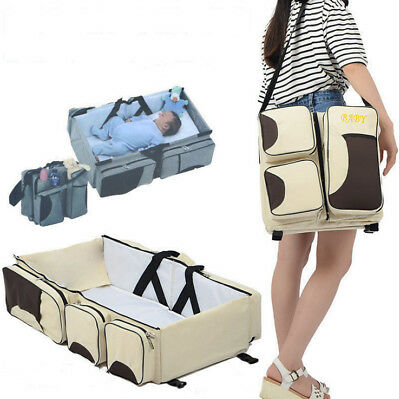Multi-function Mummy Bag Mother Folding Bag Child Bag Portable Travel Crib
