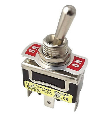 Heavy Duty Toggle Flick Switch ON/ON Car Dash Light Metal SPST 10A 250VAC