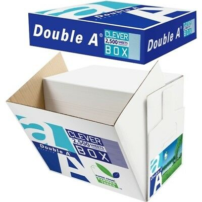 Double A A4 80gsm White Copy Paper Cleverbox, Box of 2500 Sheets
