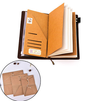 Filler Papers Traveler's Notebook Kraft Paper Business Card Holder File FolderWS
