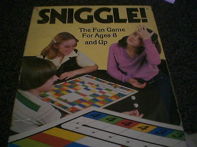 Sniggle, Vintage 1980 Board Game, Complete & Very good condition