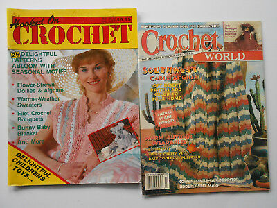 ## CROCHET WORLD & HOOKED OF CROCHET - VINTAGE PATTERN BOOKS **Free Postage