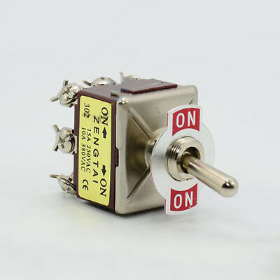 1x 9-Pin 12V ON/ON 15A 250VAC Heavy Duty Flick Toggle Switches 3PDT