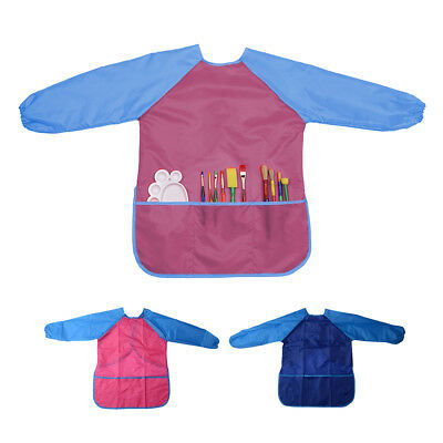 2pcs Childs Kids Apron Waterproof Smock for Painting Cooking with Pockets TH680