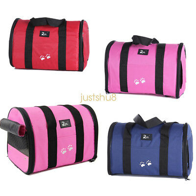 Uk Dog Cat Bag  Puppy Fabric Portable Carrier Folding Crate Cage Pet Travel Bag