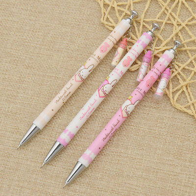 3pcs Kawaii Rabbit Mechanical Pencil School Student Writing Stationery Kids Gift