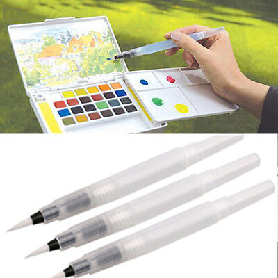 Neu 3PCS Pilot Ink Pen For Water Brush Watercolor Painting Calligraphy Größe SML