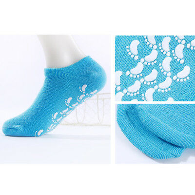 New Moisturising Gel Socks Vitamin Foot Care Soft Comfy Silicone One Size 1 Pair