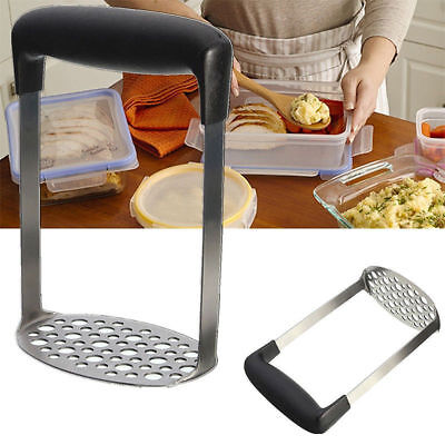 Stainless Steel Wide Grip Metal Potato Masher Ricers Heavy Duty Crusher UK Stock