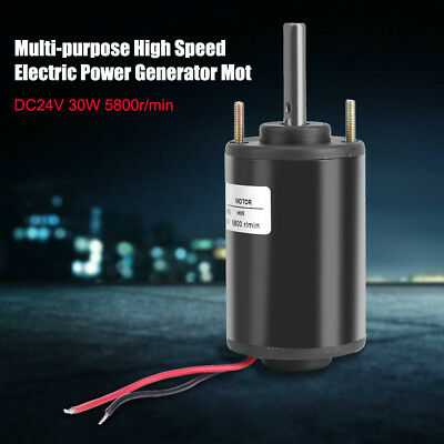 R5166 DC24V 30W 5800r/min High Speed Mini Electric Power Generator Motor Black