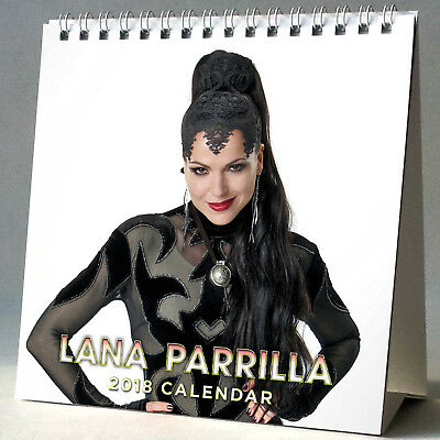 Lana Parrilla Desktop Calendar 2018 NEW + GIFT 3 Stickers Once Upon a Time Queen