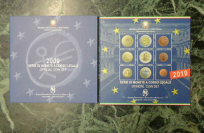 Lotto 2 Serie 9 Monete In Euro 2009 2010 Official Coin Set Numismatica Subalpina