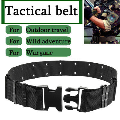 Security Guard Equipment Tactical Duty Belt Training Outdoor Wargame Nylon Gear