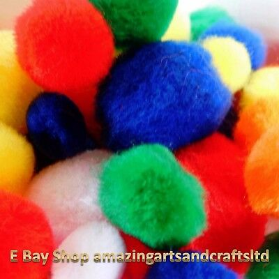 Pom Poms Assorted Colours and sizes 50 pcs