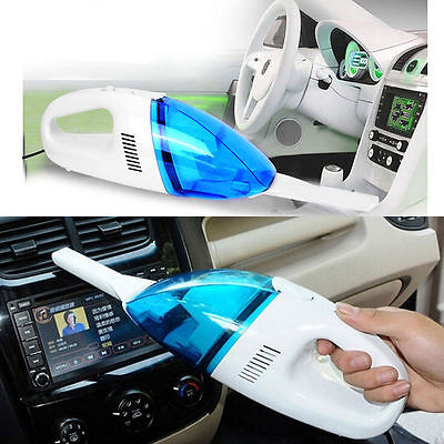 Car Vehicle Auto Truck Portable Handheld Powered 12V Wet Dry Vacuum Cleaner Blue