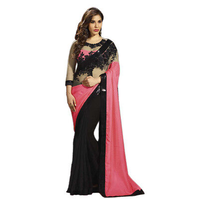 Indian Women Ethnic Wedding Designer Sari Traditional Party Wear Bollywood Saree