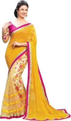 Indian Women Ethnic Wedding Sari Designer Traditional Party Wear Bollywood Saree