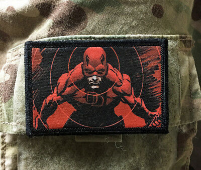 Daredevil Morale Patch Military Tactical Army Flag USA Hook Badge Marvel